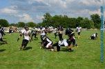 Joe Taylor breaking a tackle on a kick return