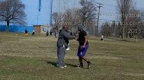 Coach Mount and WR/TE Chris Mongomery