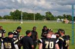 Roland Davis talks to the offense